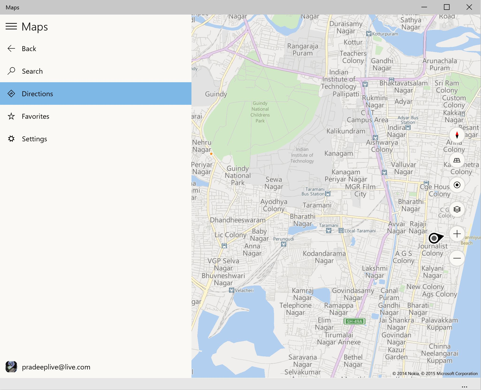 check out the revamped maps app in windows 10 build 9926 mspoweruser