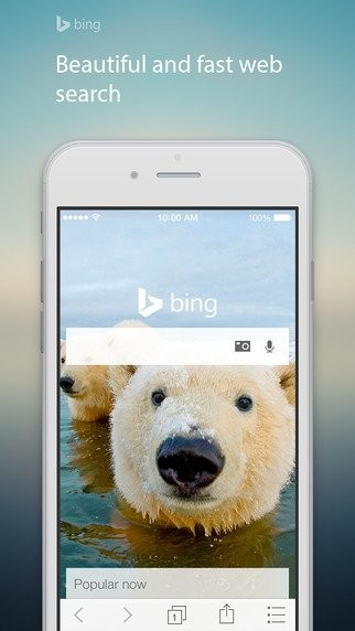 Bing iOS app