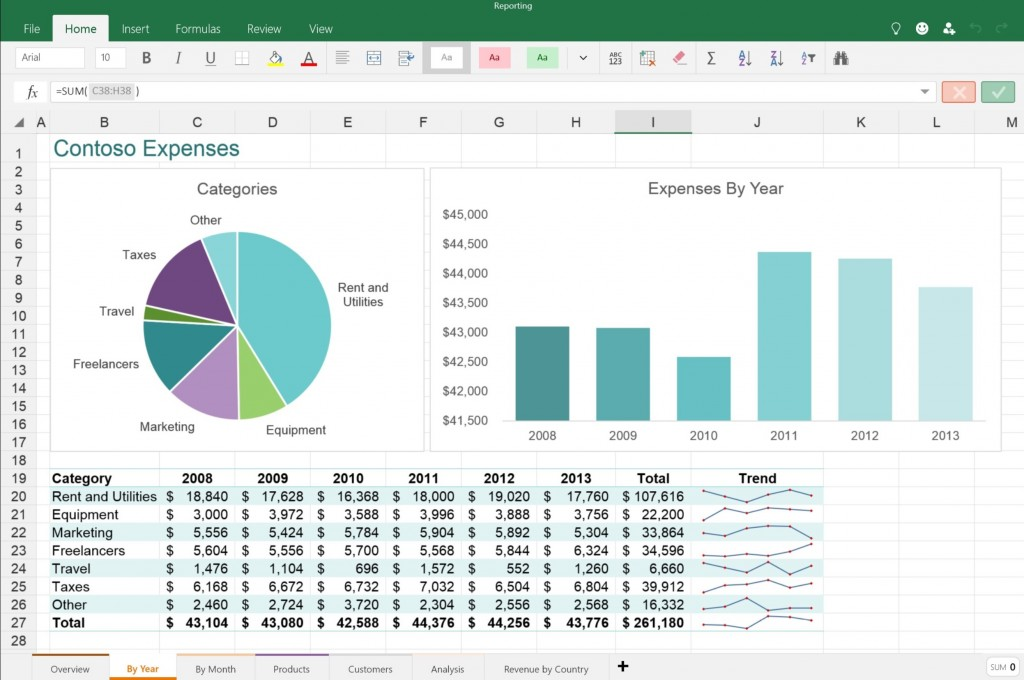Excel Touch App 1