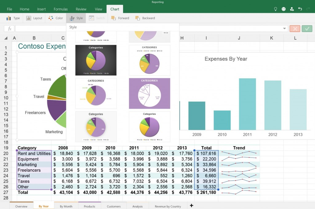 Excel Touch App 4