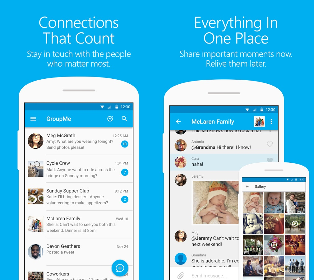 microsoft updates groupme app for android with material