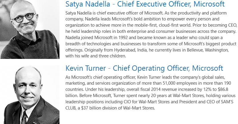Microsoft WPC 2015