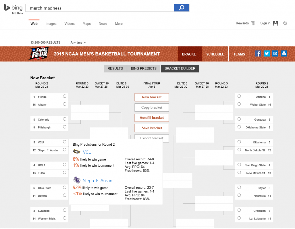 Bing Bracket Builder