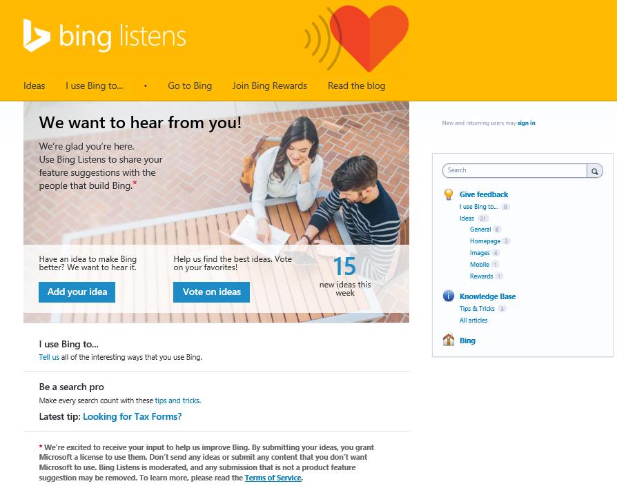 Bing Listens