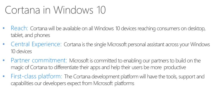 Cortana Windows 10 Reach