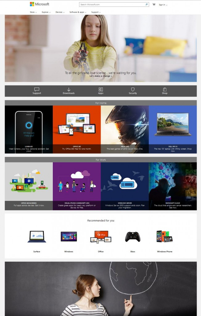 Microsoft Webpage