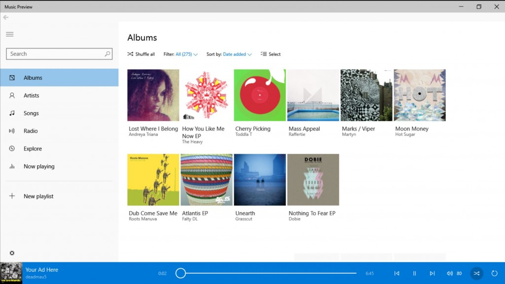 Music Preview WIndows 10