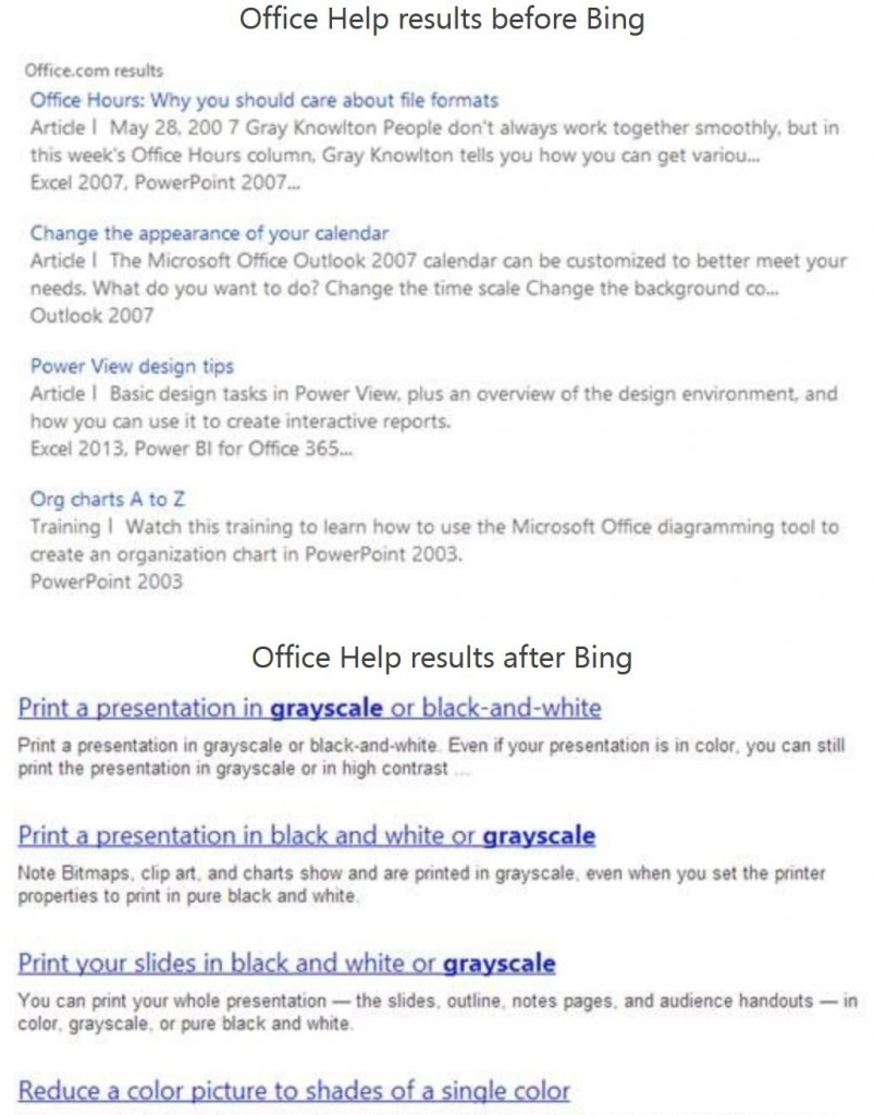 Office Bing Help Search