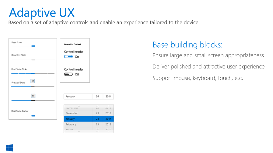 Windows 10 Adpative UX