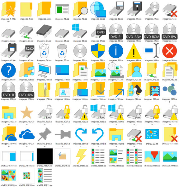 Download The New Updated Icons From Windows 10 Build 10036