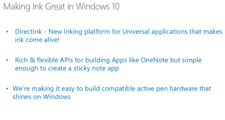 Windows 10 DirectInk Platform