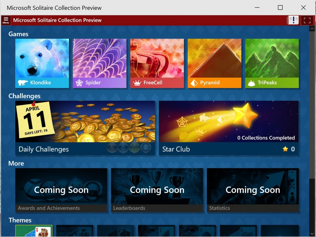 Microsoft Solitaire Windows 10 1