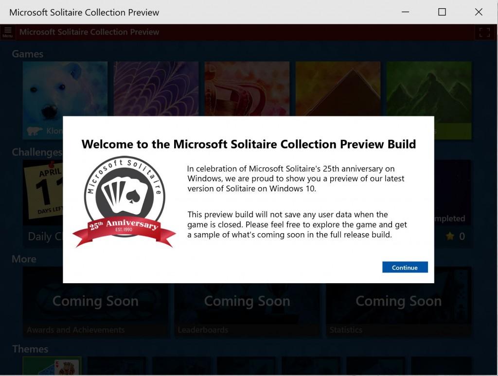 Microsoft Solitaire Windows 10