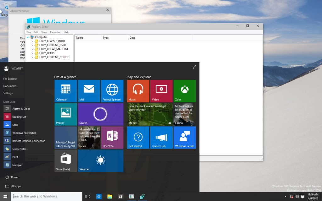 Windows 10 Build 10056 Screenshots 1