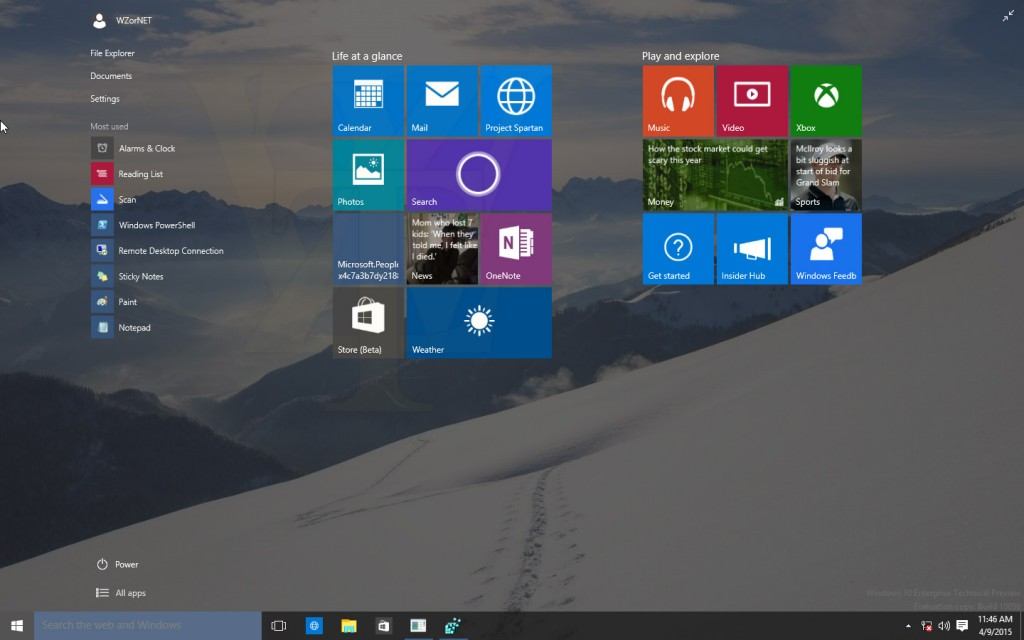 Windows 10 Build 10056 Screenshots 2