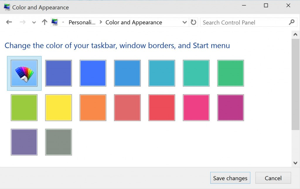 Windows 10 Color And Appearance