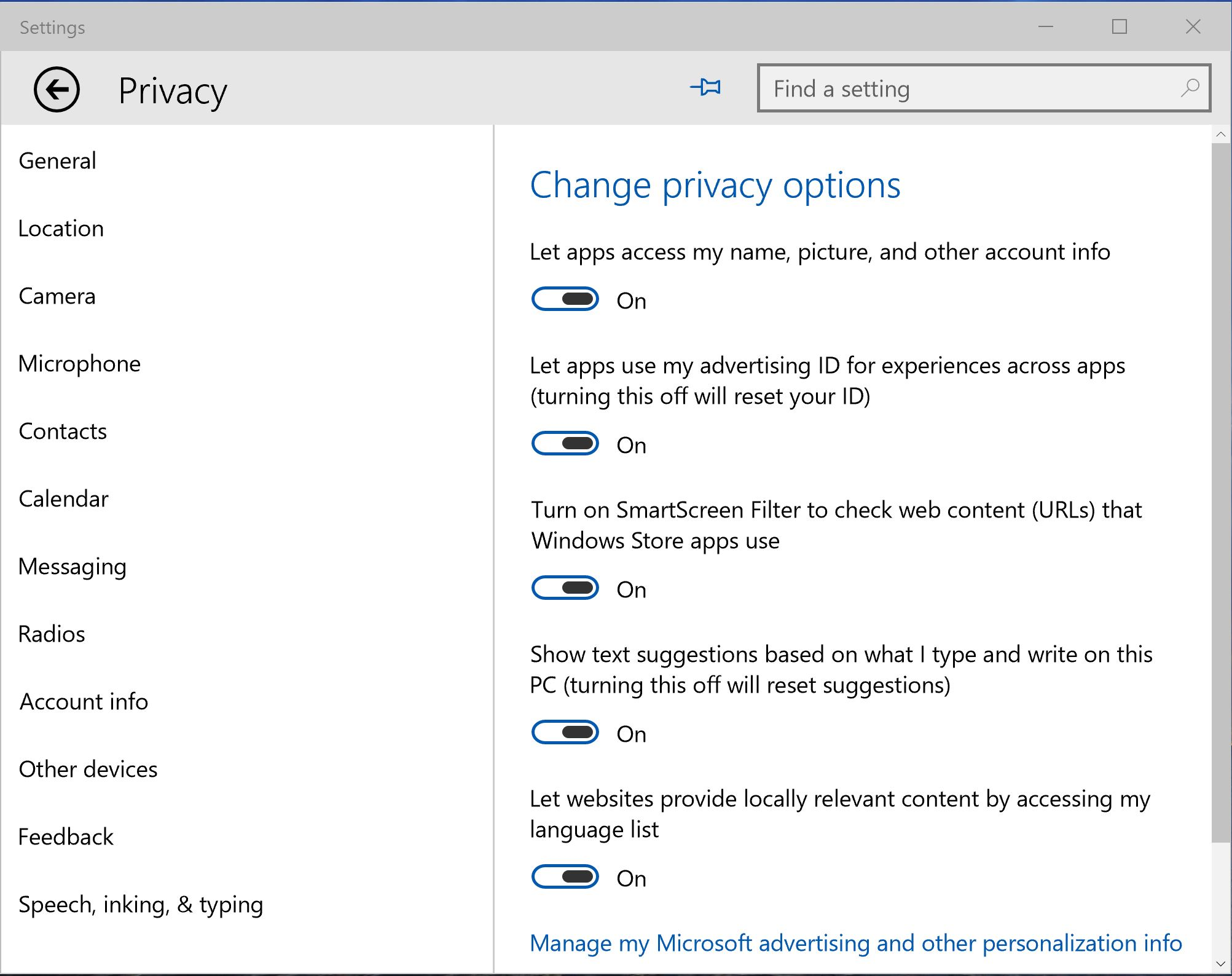 Recent Windows 10 Builds Includes New Privacy Settings - MSPoweruser