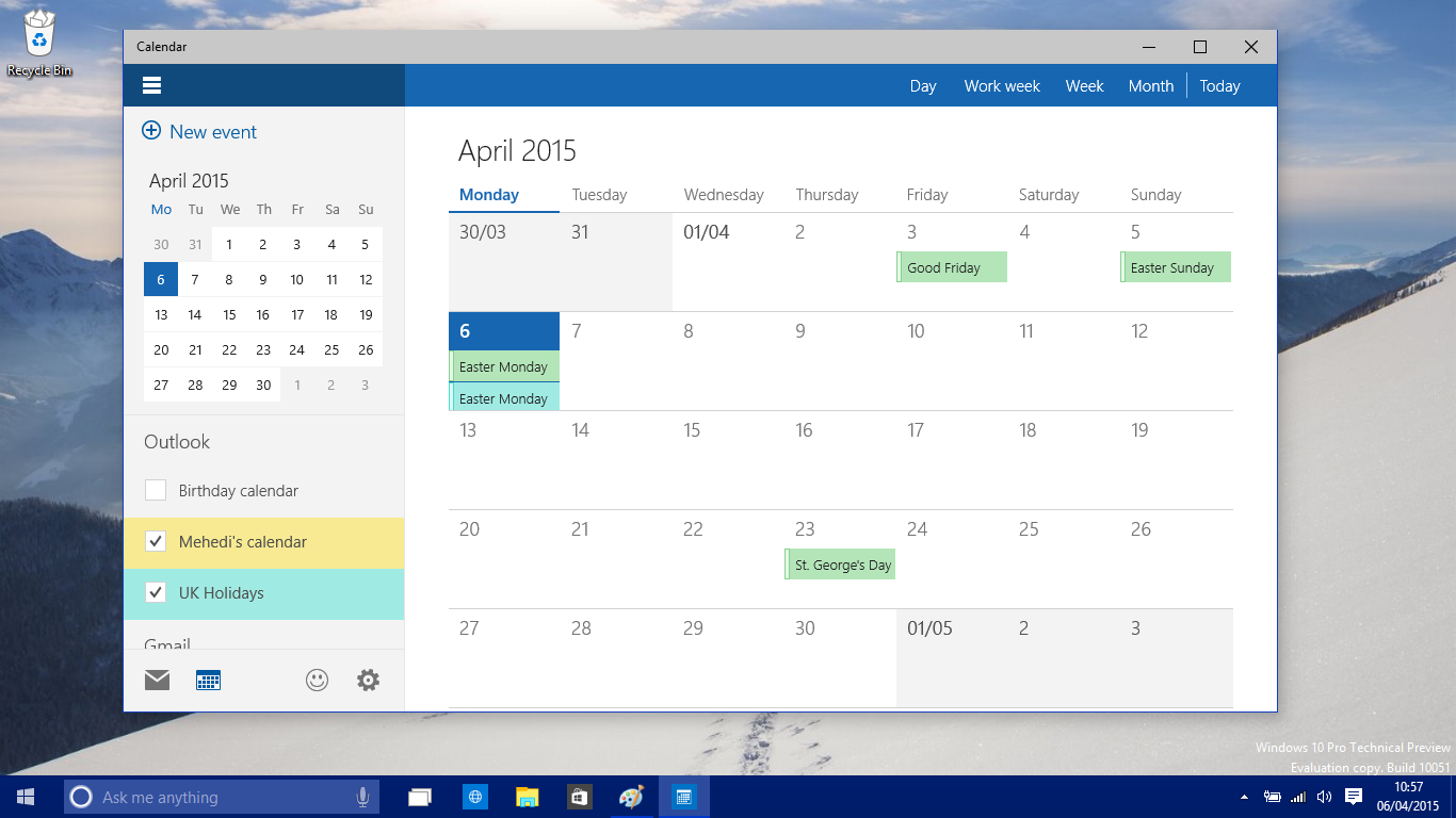 Google Calendar Wallpaper Windows : A closer look at the new calendar app on windows