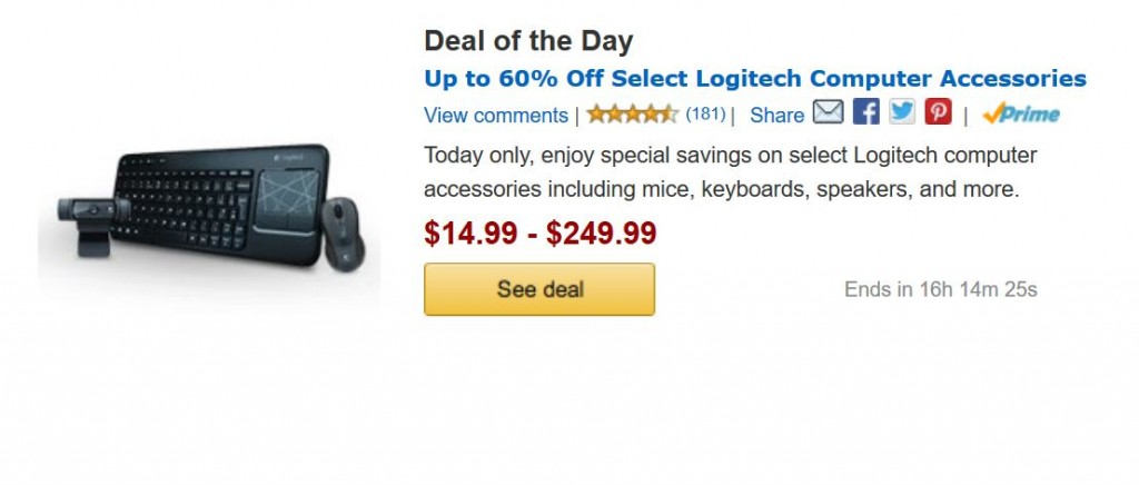 Deals of the day logitech
