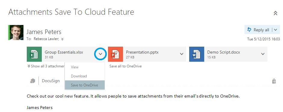 OneDrive Outlook