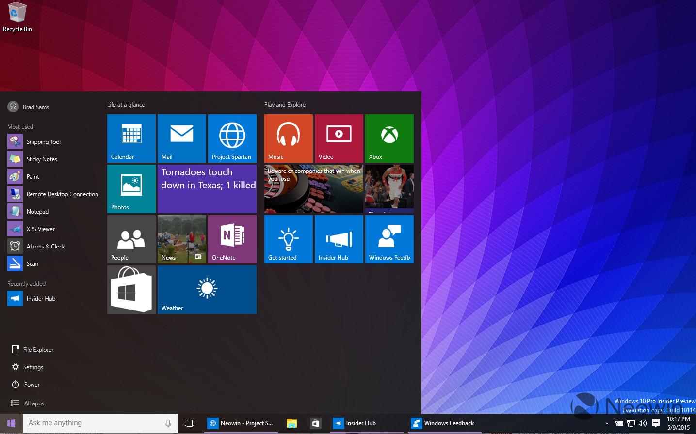 Screenshots of windows 10 build 10114 leaked online mspoweruser windows 10 build 10114 1 ccuart Choice Image