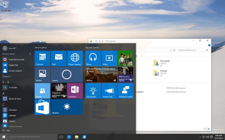 Windows 10 Build 10125 1 (Small)