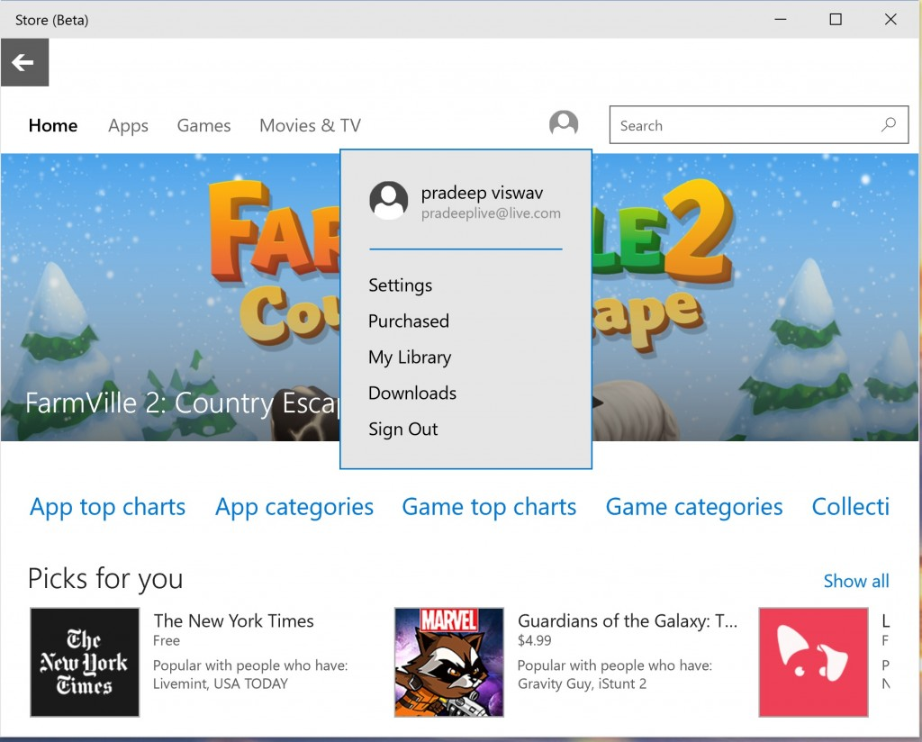 Windows Store Build 10074 2
