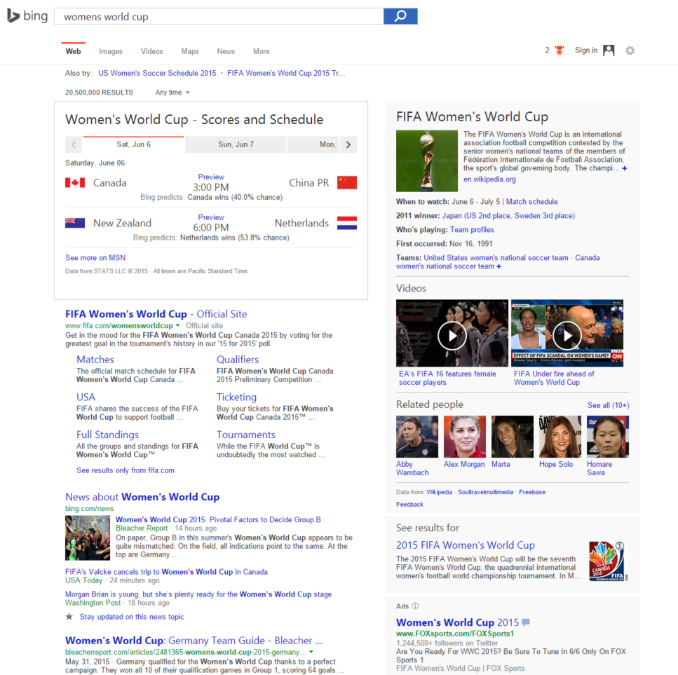 Bing FIFA Worldcup