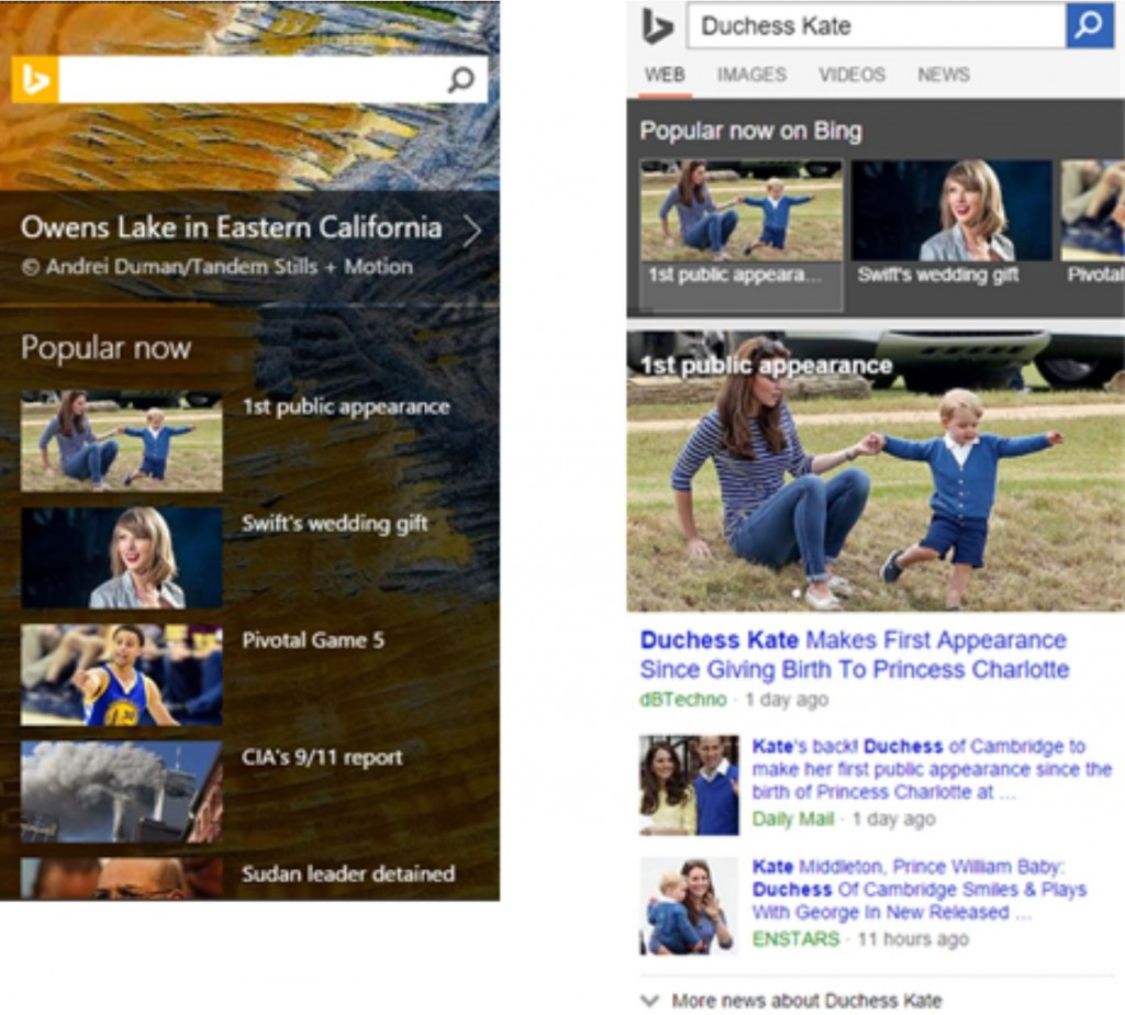 Bing news mobile