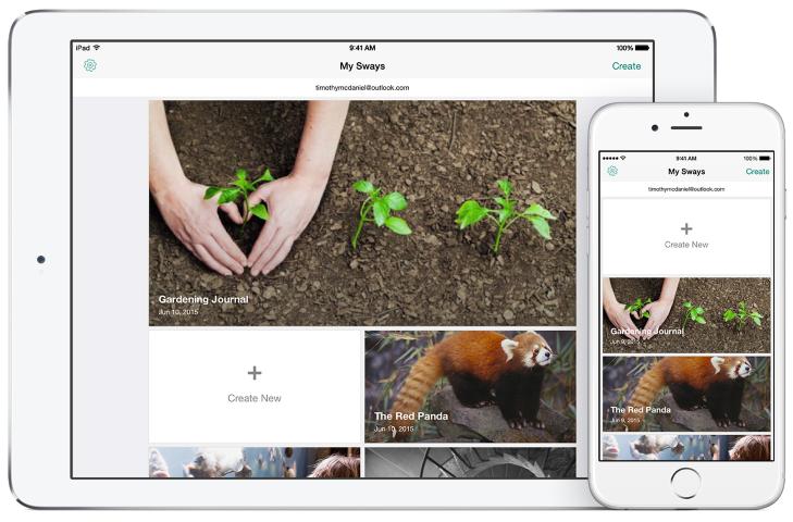 Sway iPad iPhone app (Small)