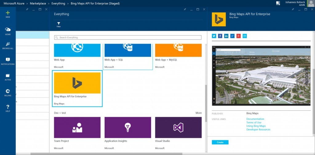 Bing Maps Azure