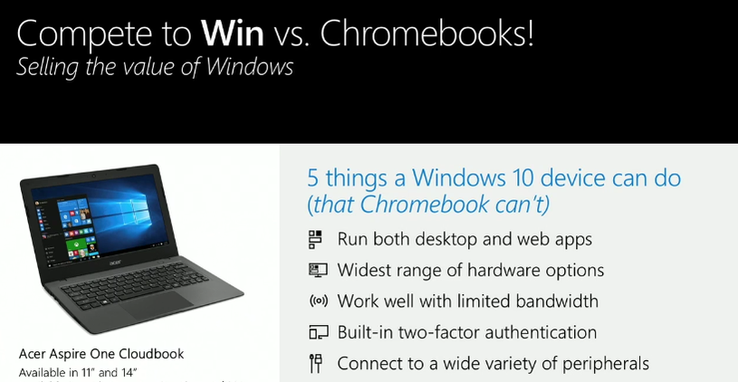 Chromebooks Windows