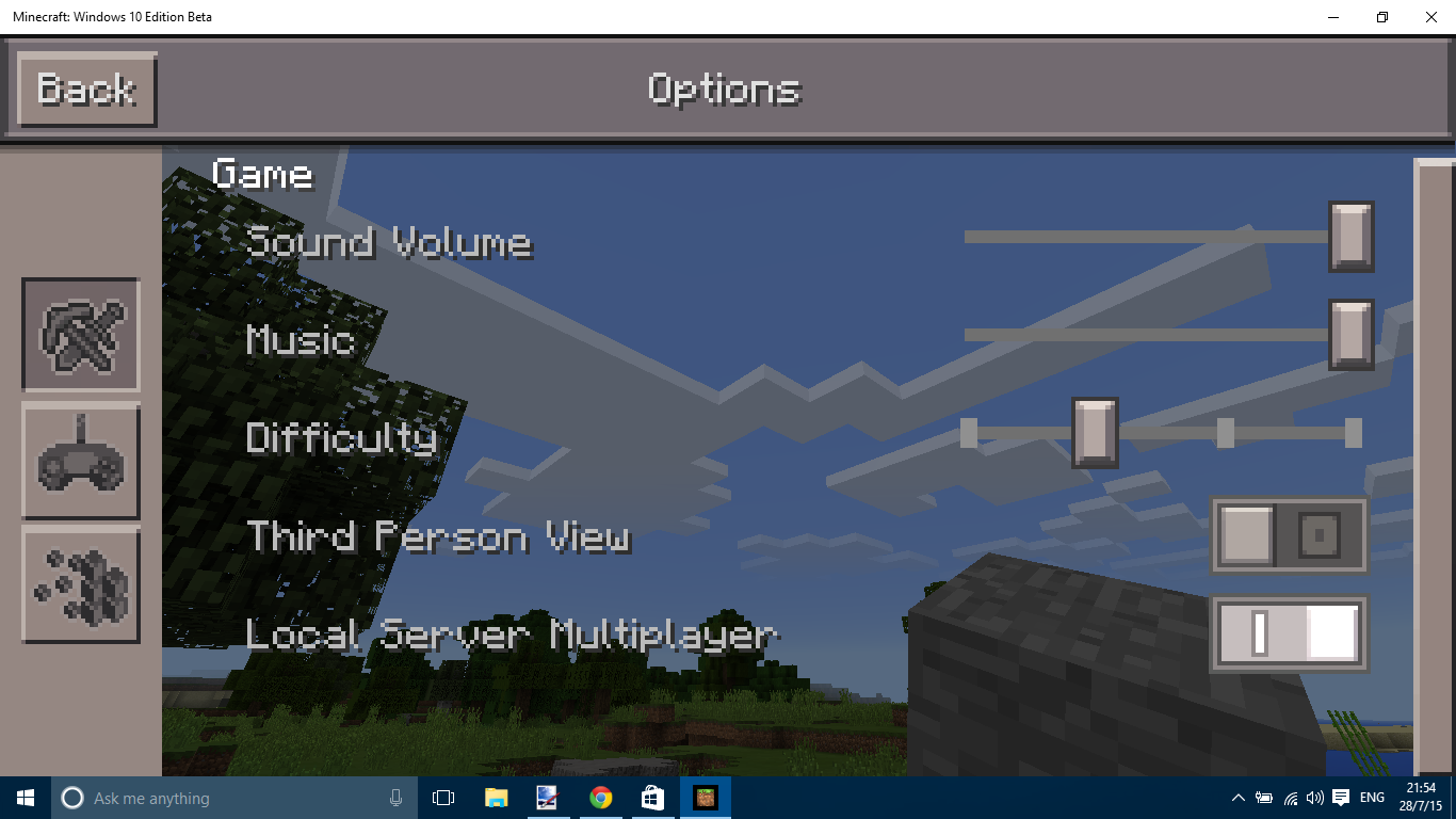 windows 10 and minecraft