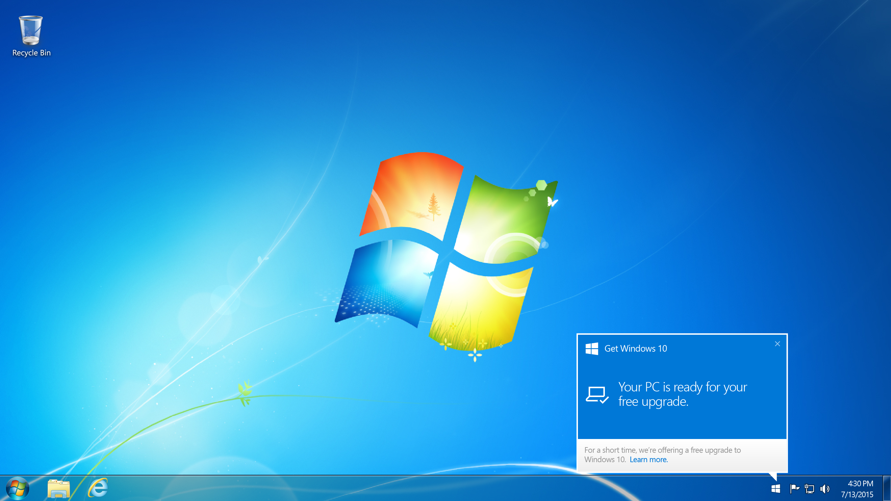 Windows 10 update for Windows 7