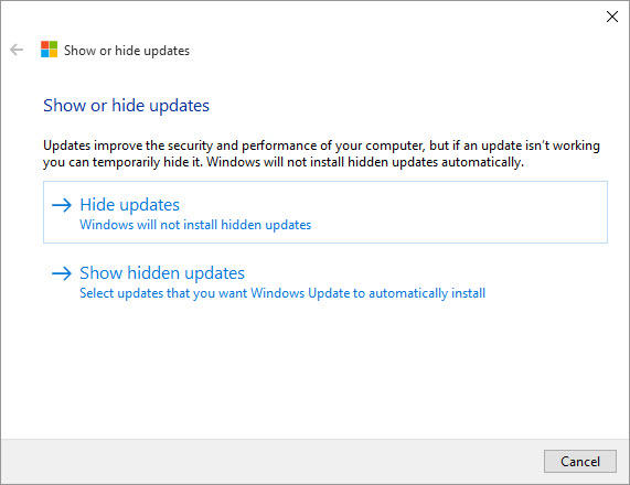 Windows Update Block Tool 1