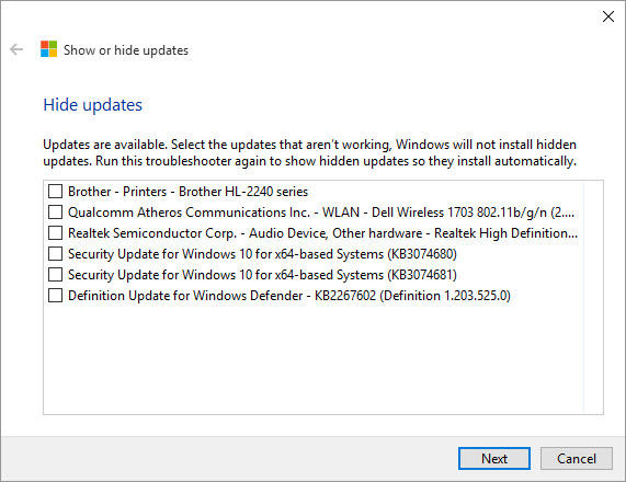 Windows Update Block Tool 2