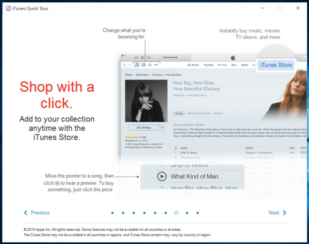 iTunes Windows 6