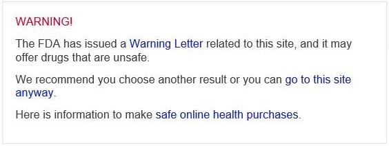 Bing Warning