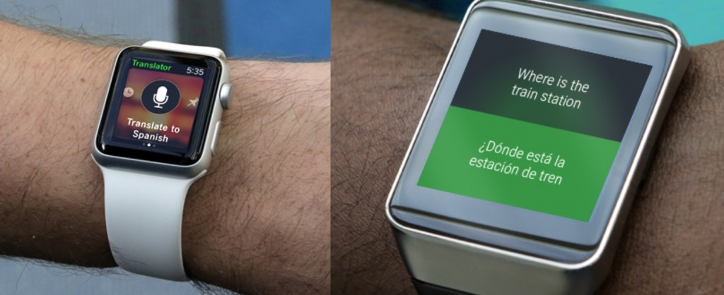 Microsoft Translator Apple Watch Android Wear