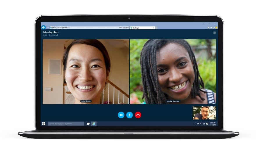 Skype web group video call