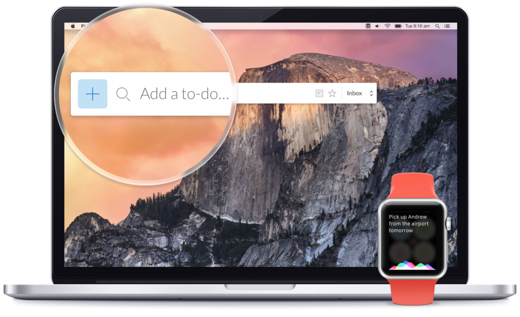 Wunderlist Mac apple watch