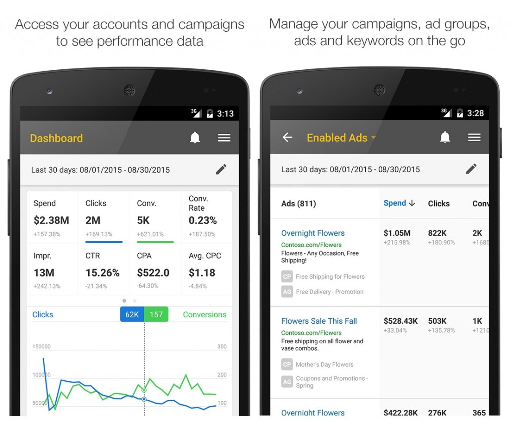 Bing Ads Android App