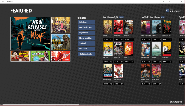 Comixology Windows Store