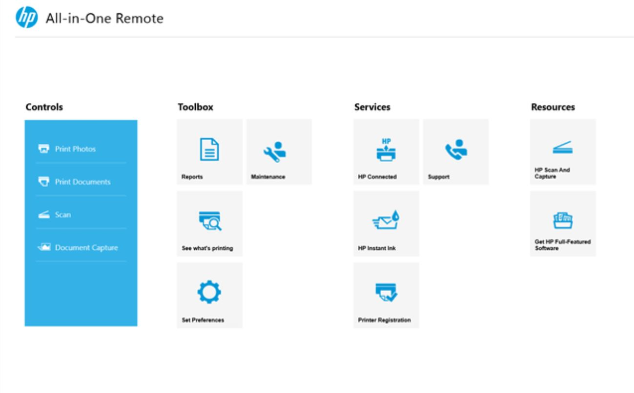 HP All-In-One Remote App