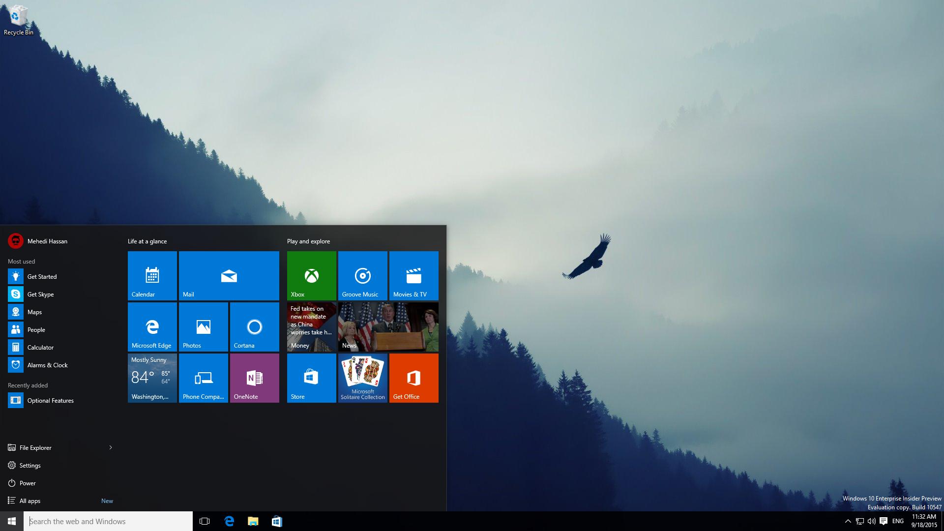 Gallery: Windows 10 Build 10547