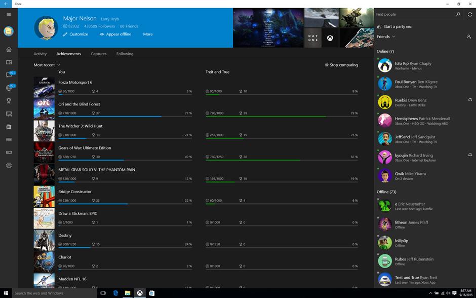 Xbox App on Windows 10