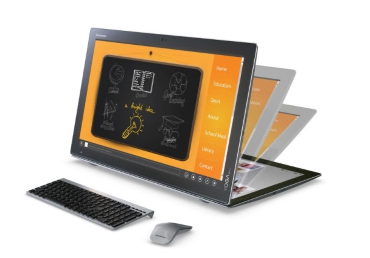 lenovo announces yoga home 900 portable desktop mspoweruser. Black Bedroom Furniture Sets. Home Design Ideas