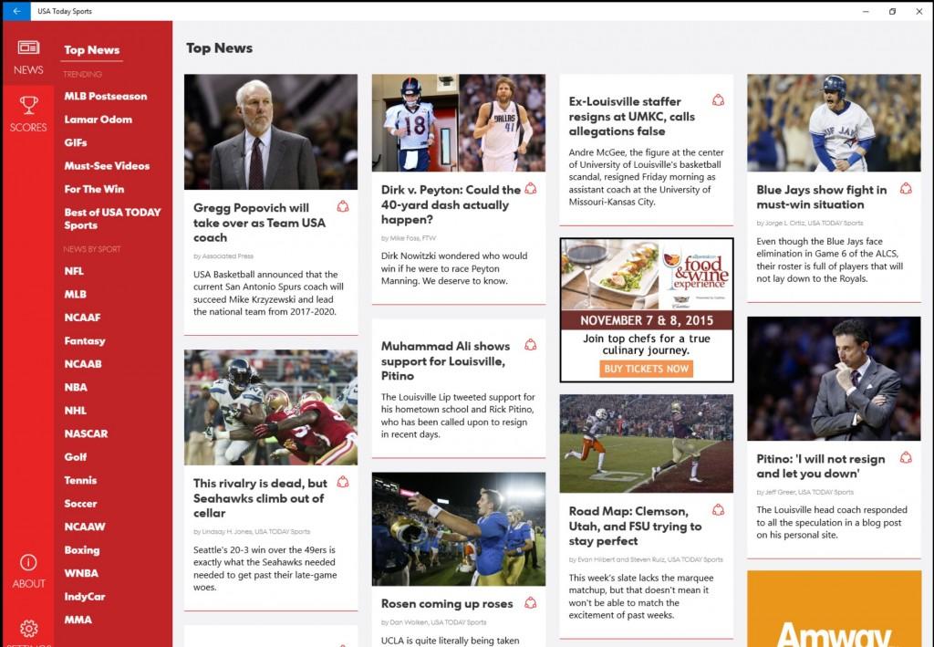USA Today Sports App Windows 10