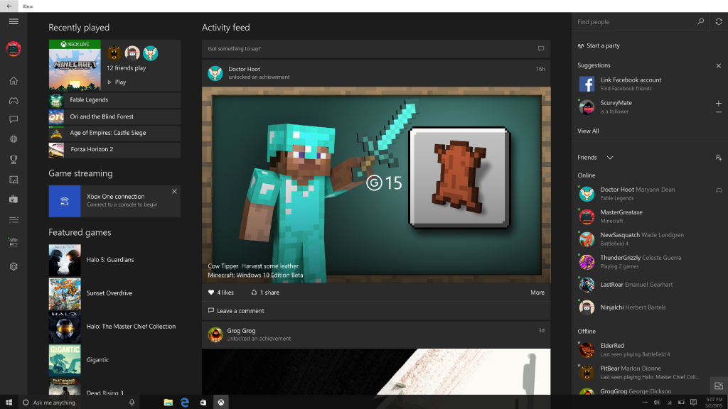 Xbox Beta Windows 10