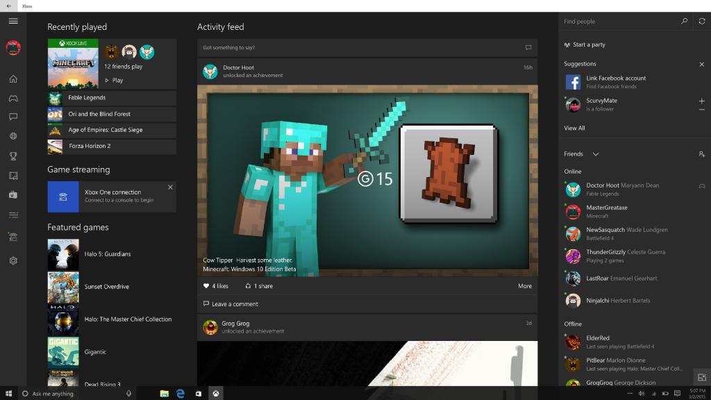 Xbox Beta Windows 10